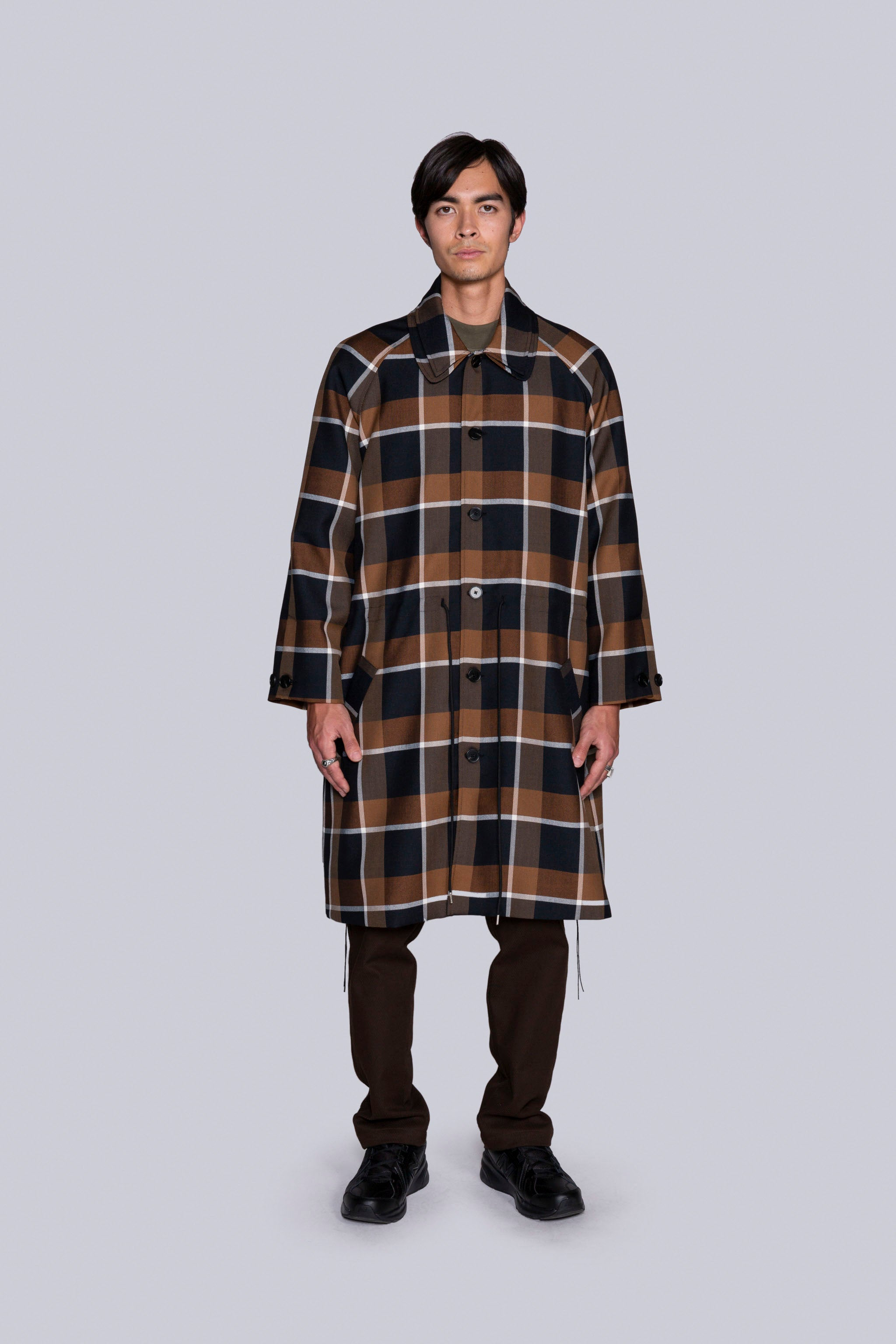 Coversall Trench Brown Plaid