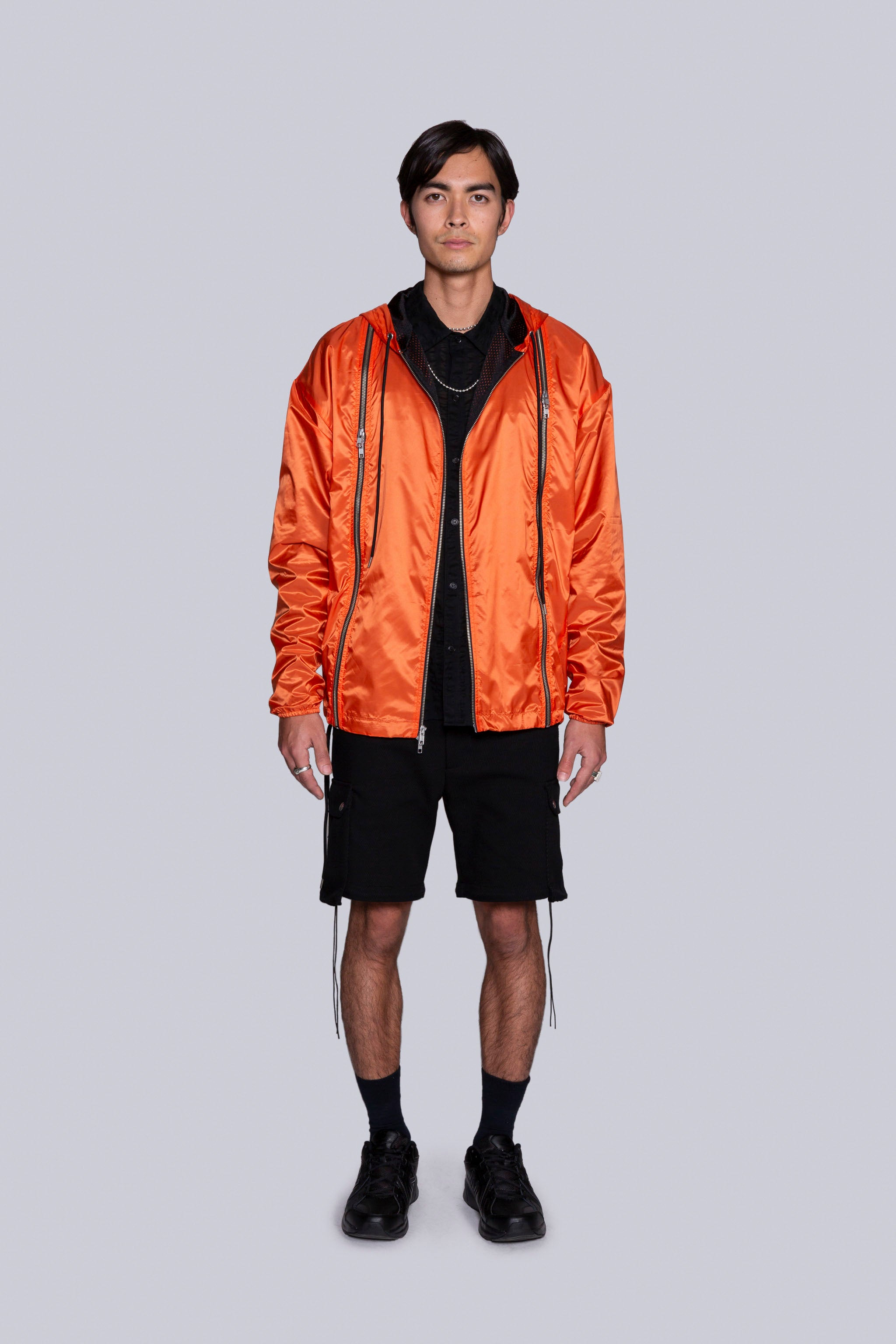 Safety-First Zip-Shell Jacket Orange