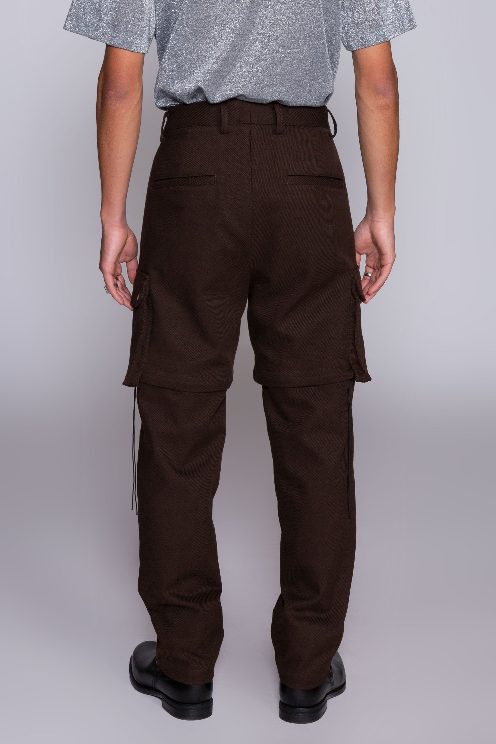 Zip-Office Cargos Brown