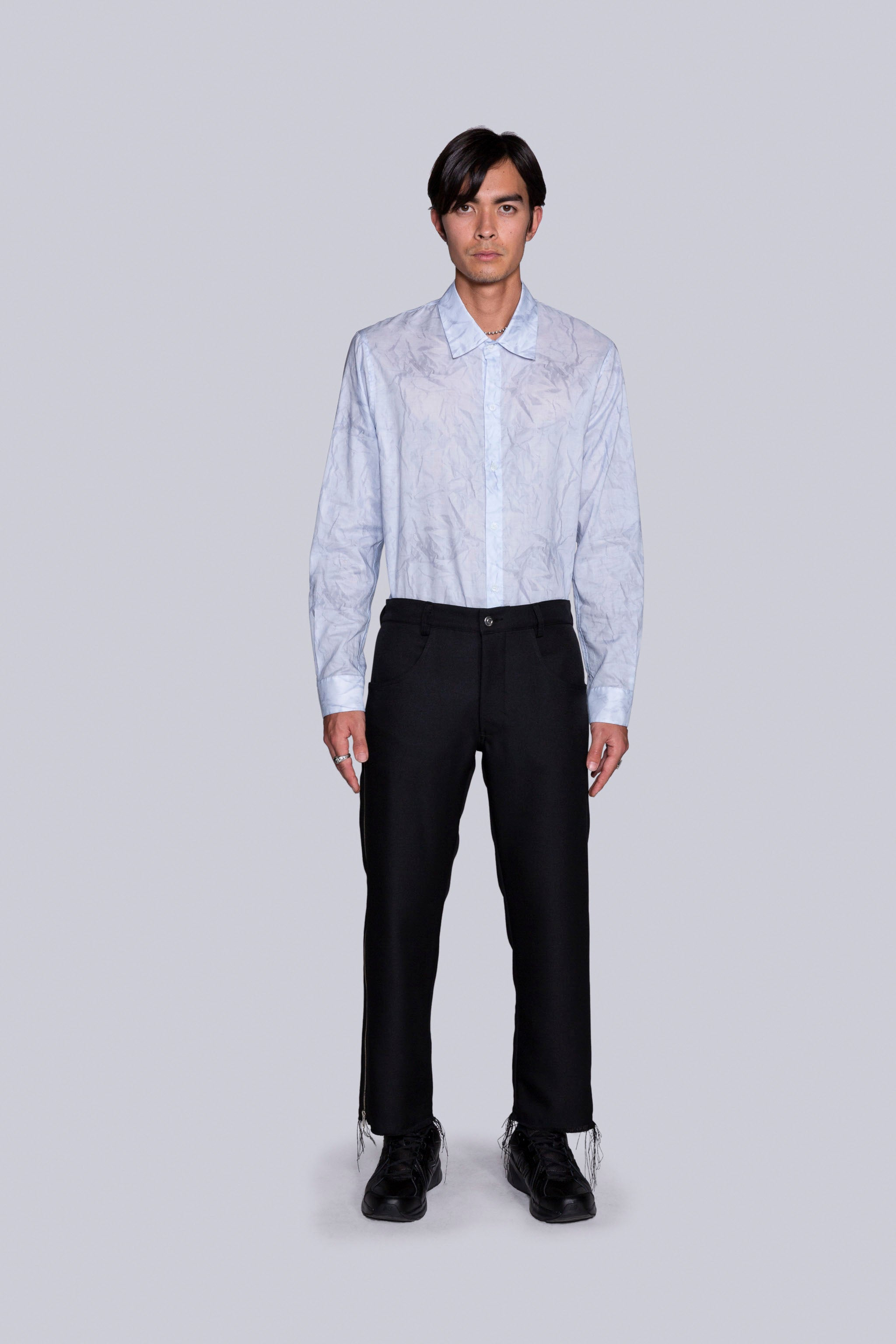 Zip-Strip Trouser Black