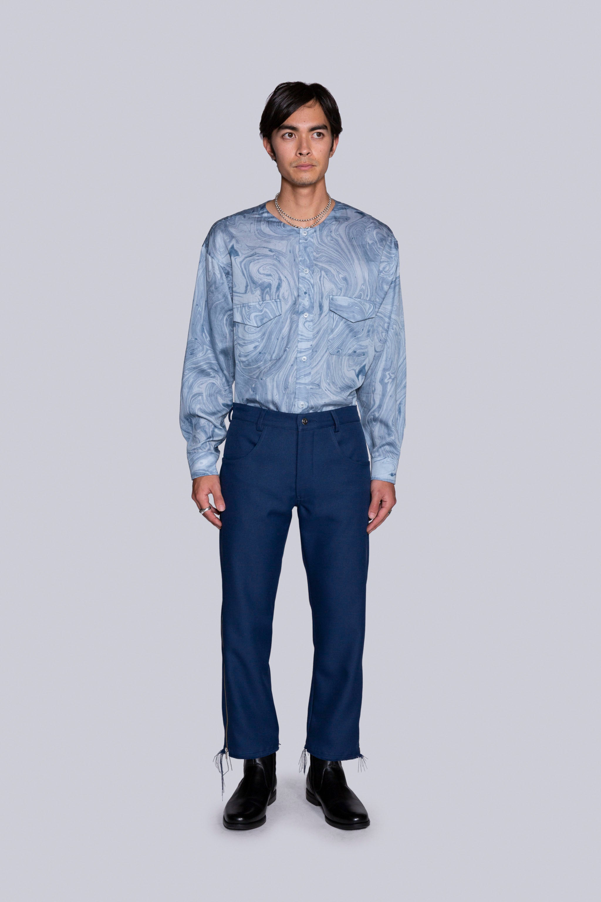 Zip-Strip Trouser Blue