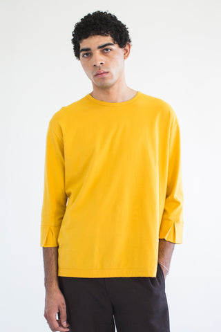 Goodfight 3-4 Sleeve False Cuff Tee Yellow