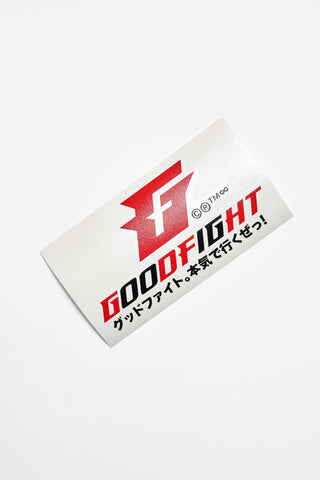 "Goodfight ""We Go Hard"" Logo JDM Slap Decal"