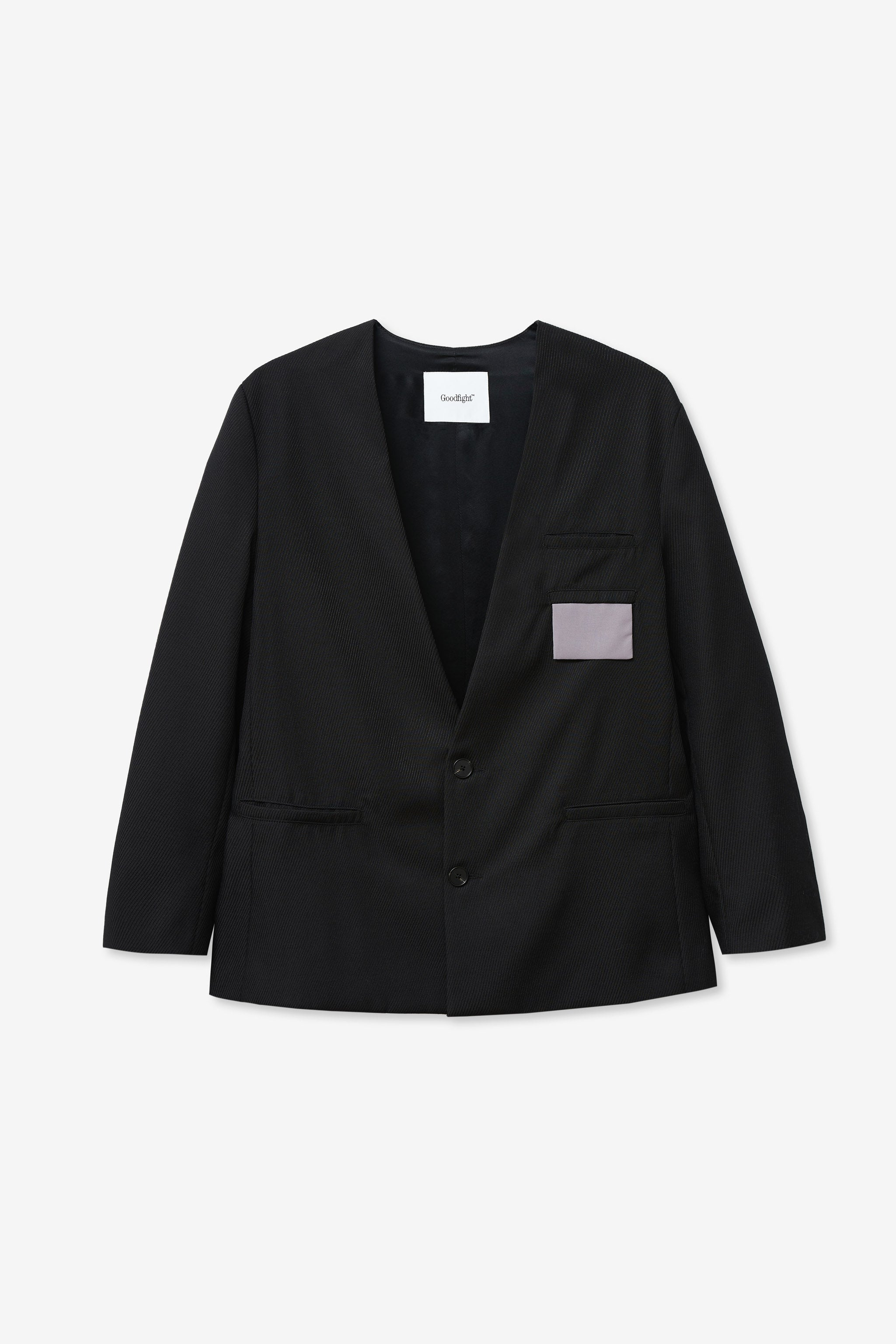 Goodfight Collar Chameleon Blazer Black