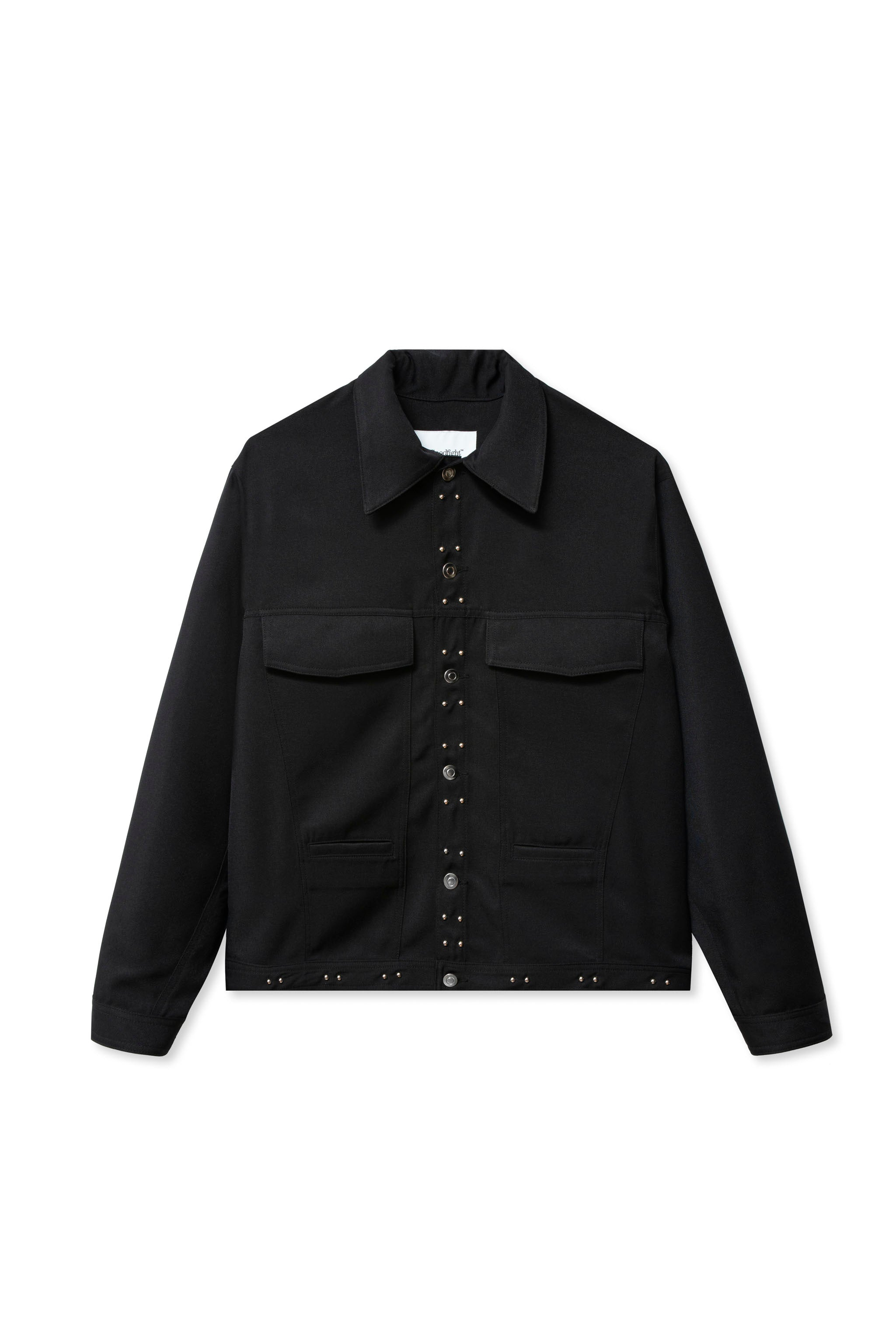 Goodfight Plaza Trucker Jacket Black Polysuiting