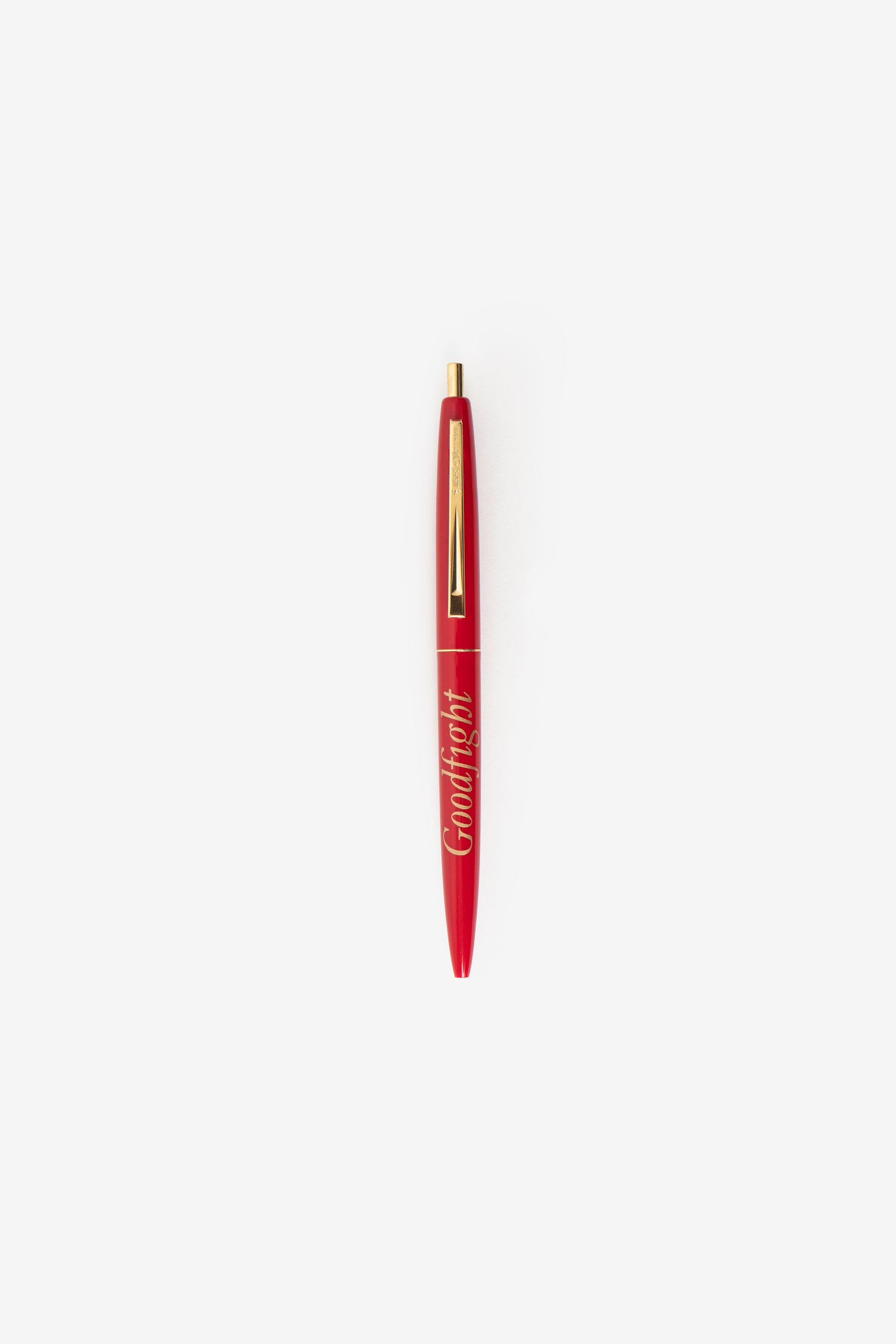 Goodfight Classic Logo Click Pen Red Gold