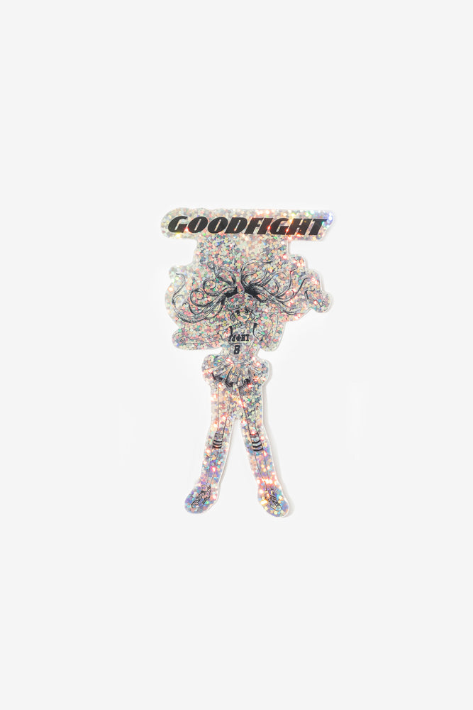Goodfight Power Girl Sticker Holographic Glitter