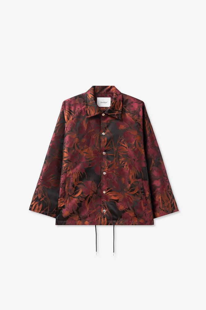 Coaches Jacket — Salvage Program Red Floral