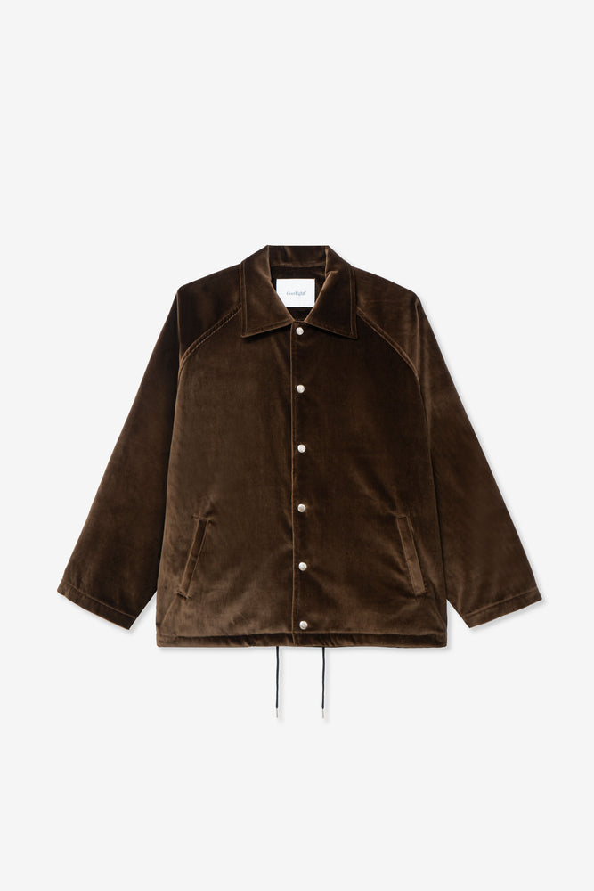 Coaches Jacket — Salvage Program Green Velvet