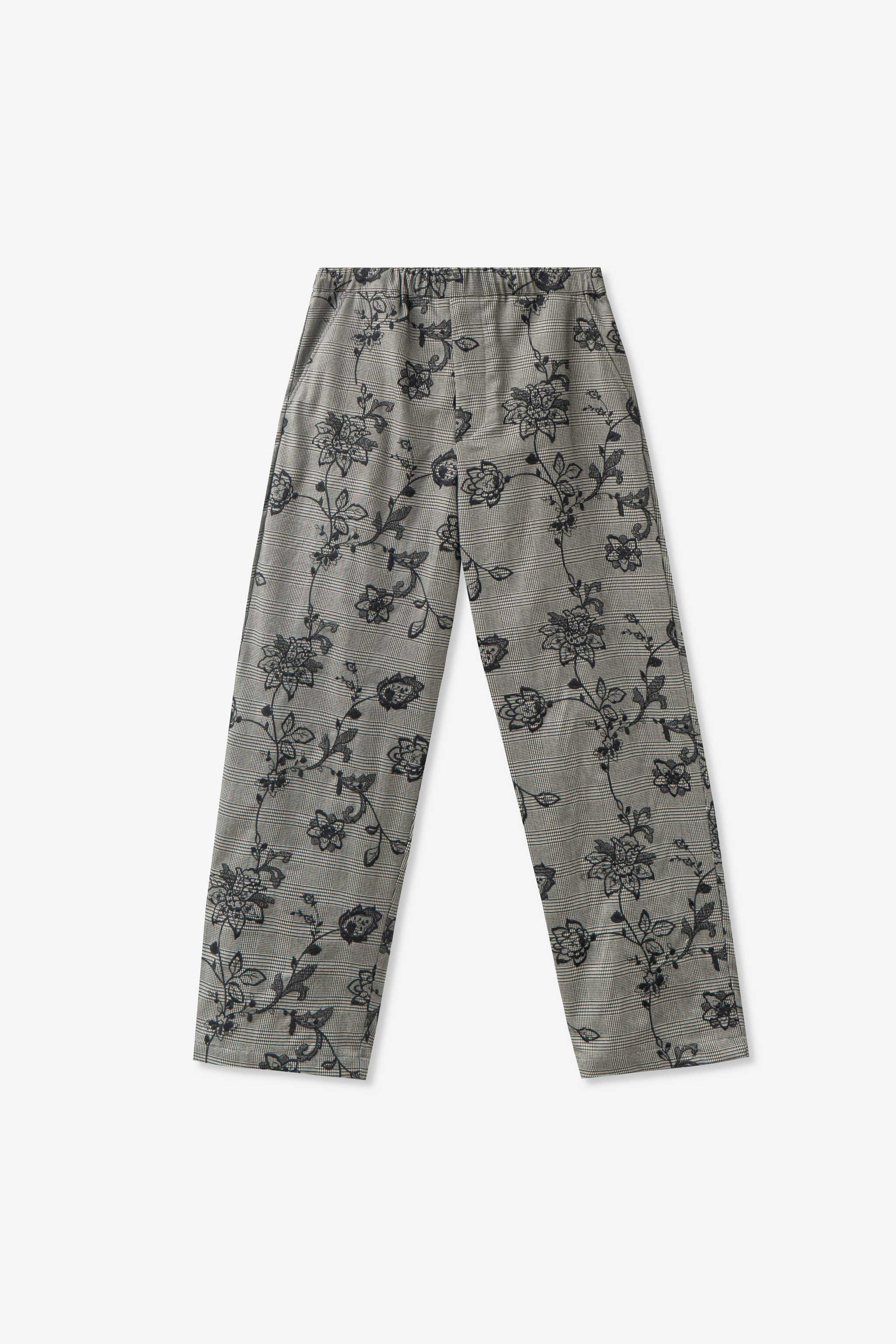 Easy Street Trouser - SALVAGE PROGRAM Floral Plaid