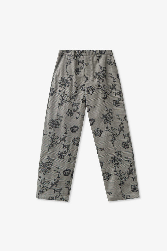 Easy Street Trouser — SALVAGE PROGRAM Floral Plaid