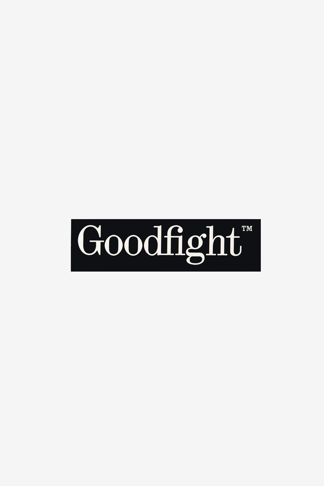Goodfight TM Logo Phone Case Bumper Sticker Black 4.25in