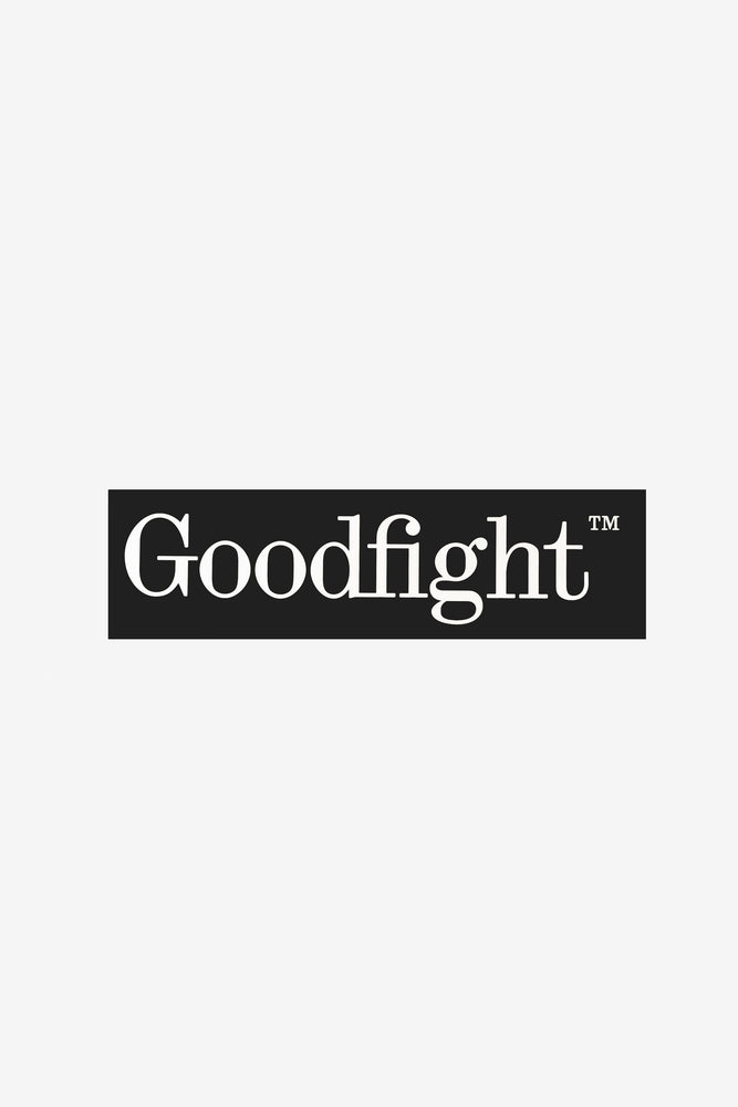Goodfight TM Logo Large Bumper Sticker Black 7.75in
