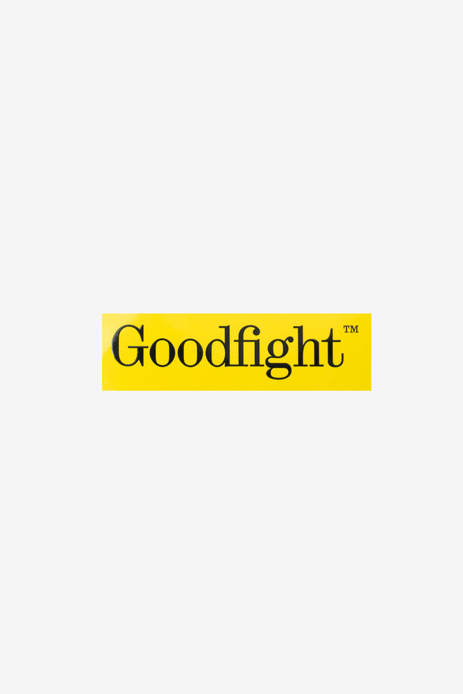 Goodfight TM Logo Phone Case Bumper Sticker Yellow 4.25in