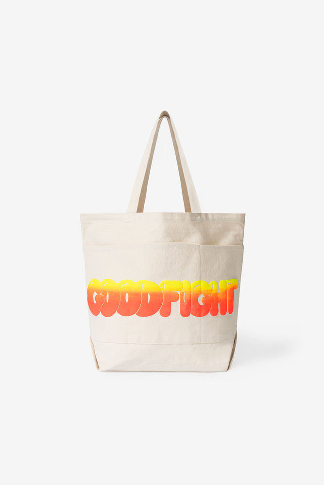 Good Tote — Neon Sunrise Puff