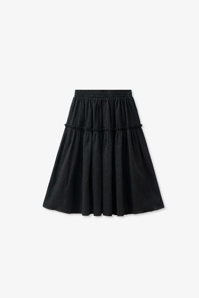 Wanda Skirt — Salvage Program Black Tinsel