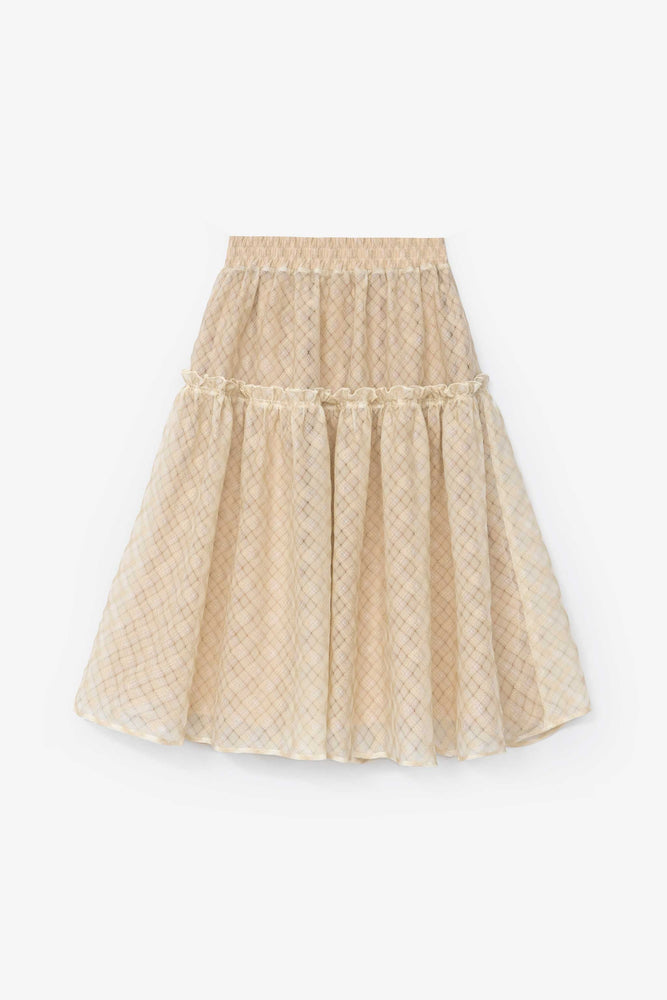 Wanda Skirt — Salvage Program Cream