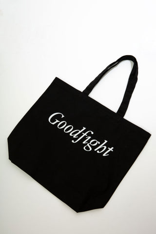 Goodfight Large Canvas Tote Flocking Letter Black