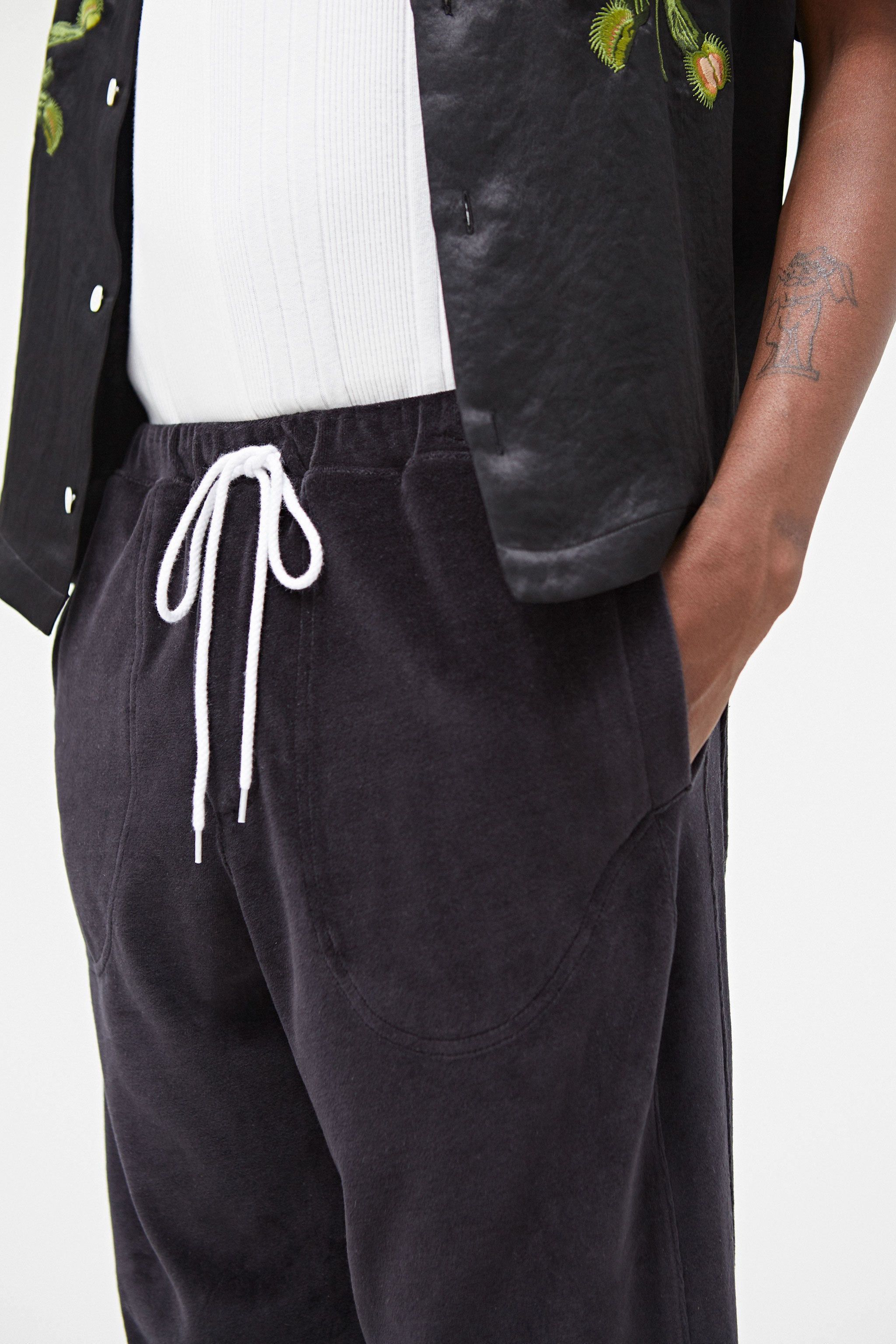 Jumpteam Velour Sweatpants Black