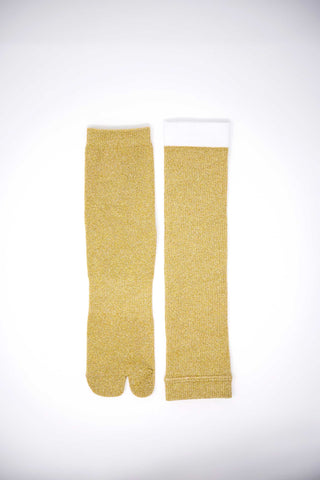 Goodfight Mod Metallic Tabi Sock Champagne