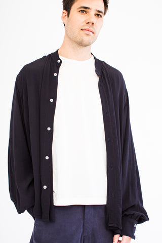 Goodfight Short-Top Button Down Shirt Navy
