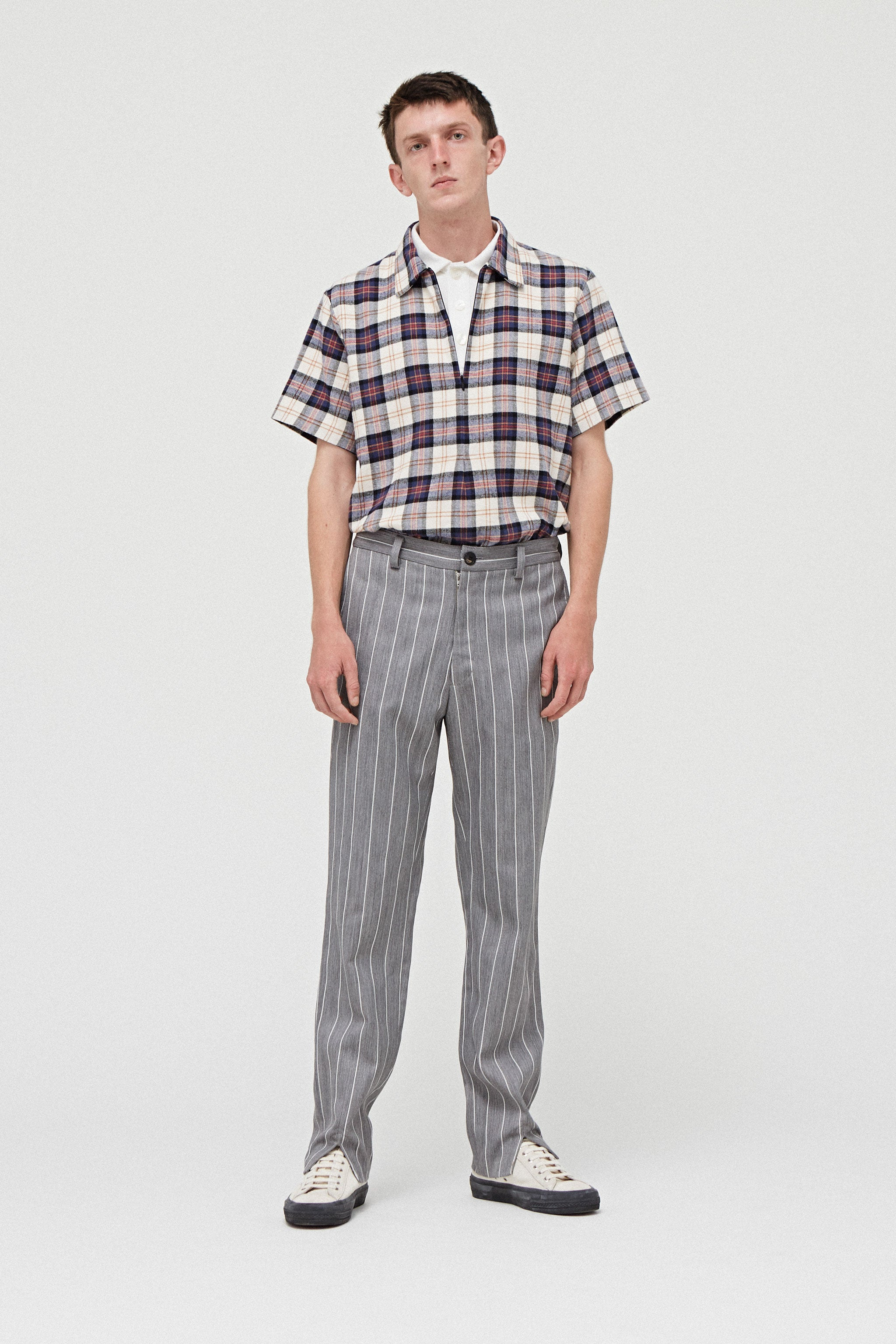 Goodfight FW18 Sunday's Best Trouser Grey Pinstripe