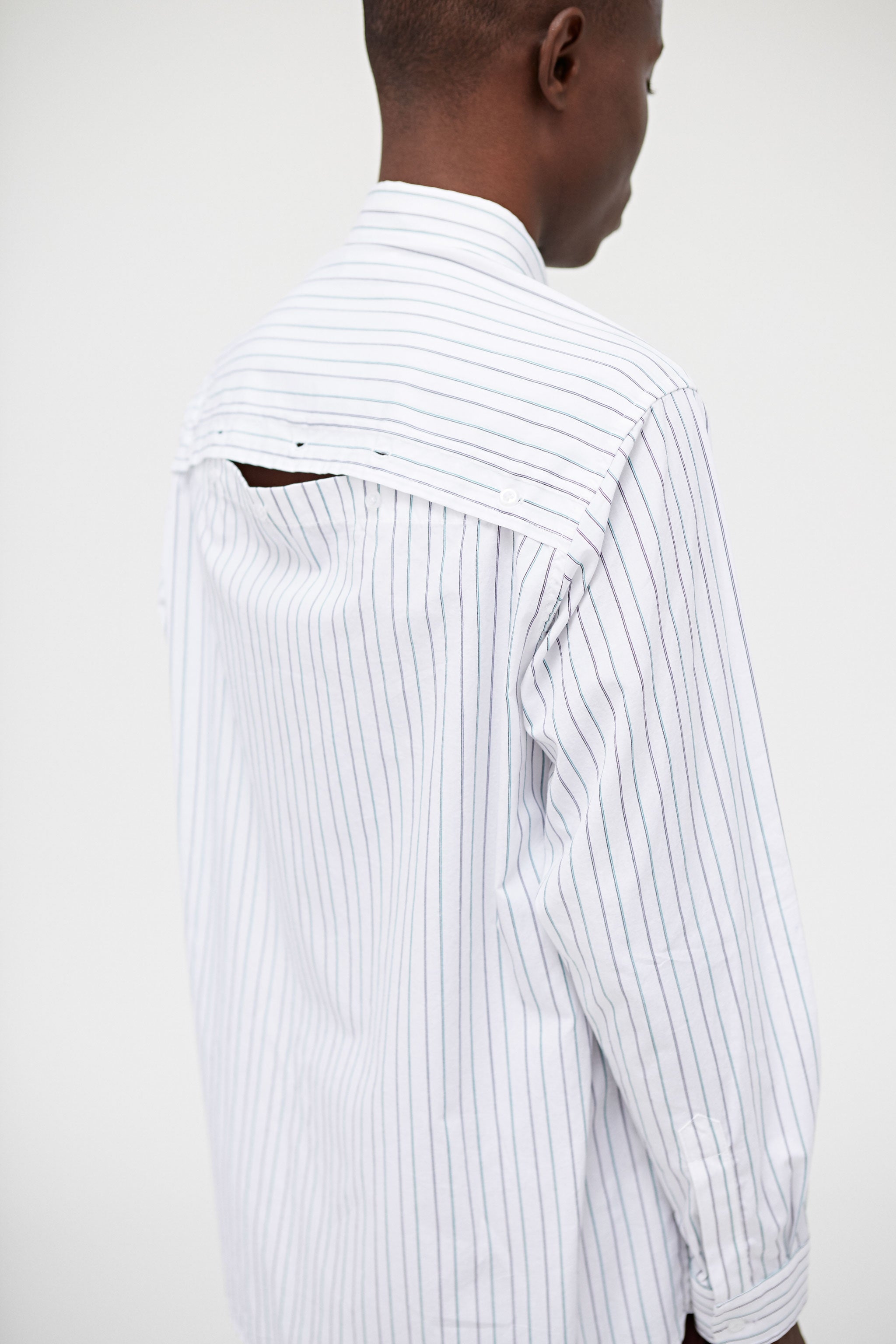 Wayside L/S Button Down Shirt Thin Stripe