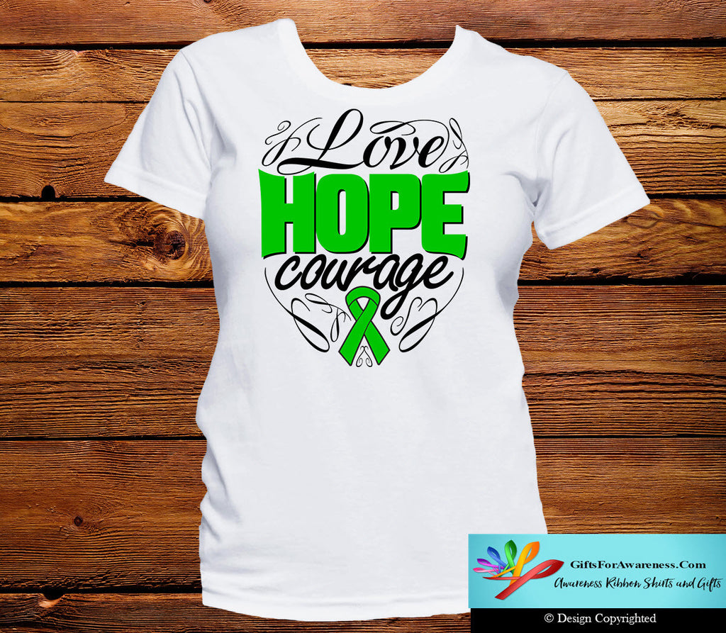 Adrenal Cancer Love Hope Courage Shirts