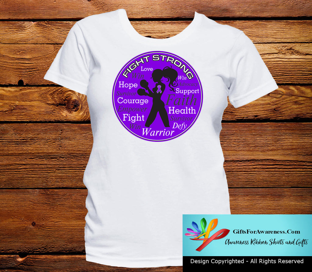 Cystic Fibrosis Fight Strong Motto T-Shirts