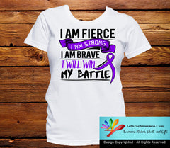 Cystic Fibrosis I Am Fierce Strong and Brave Shirts - GiftsForAwareness
