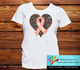 Endometrial Cancer Believe Heart Ribbon Shirts - GiftsForAwareness