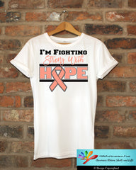 Endometrial Cancer Fighting Strong With Hope Shirts - GiftsForAwareness