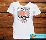 Endometrial Cancer Love Hope Courage Shirts - GiftsForAwareness