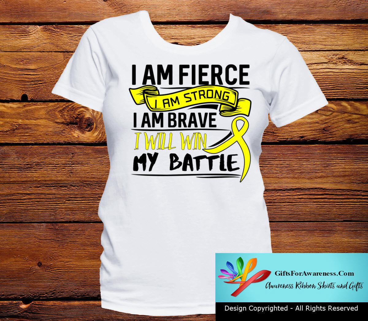 Endometriosis I Am Fierce Strong and Brave Shirts - GiftsForAwareness