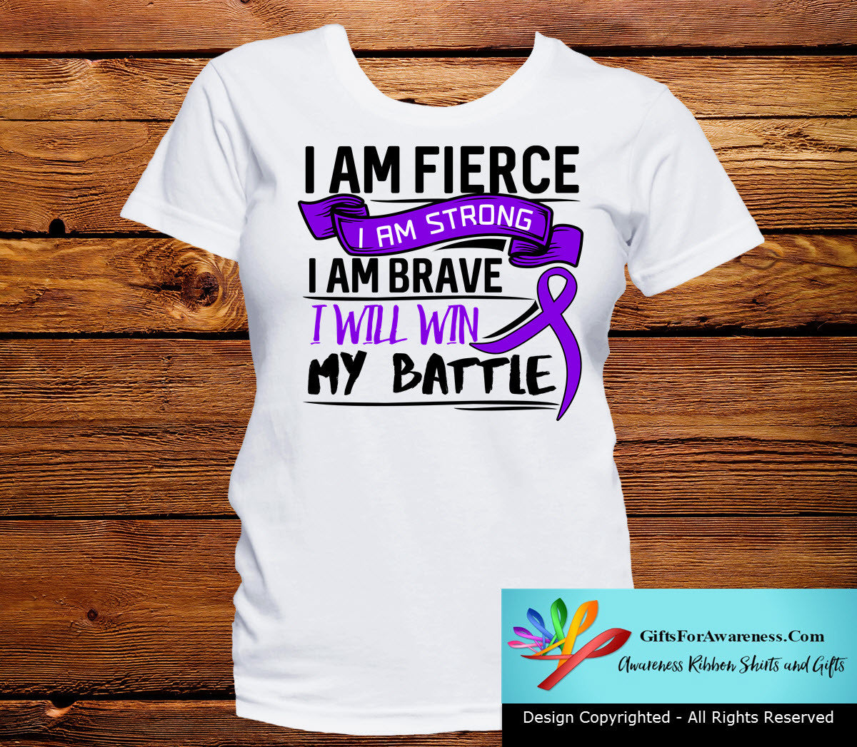 Epilepsy I Am Fierce Strong and Brave Shirts - GiftsForAwareness
