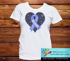 Esophageal Cancer Believe Heart Ribbon Shirts - GiftsForAwareness