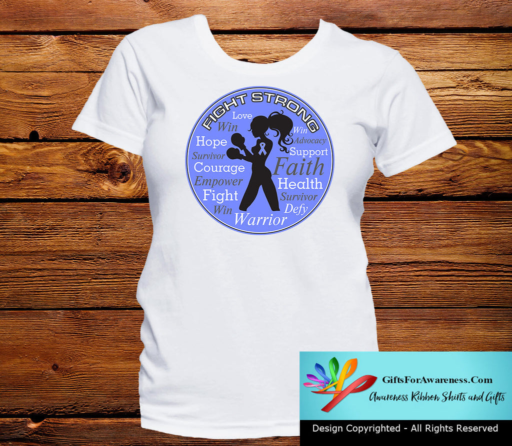Esophageal Cancer Fight Strong Motto T-Shirts