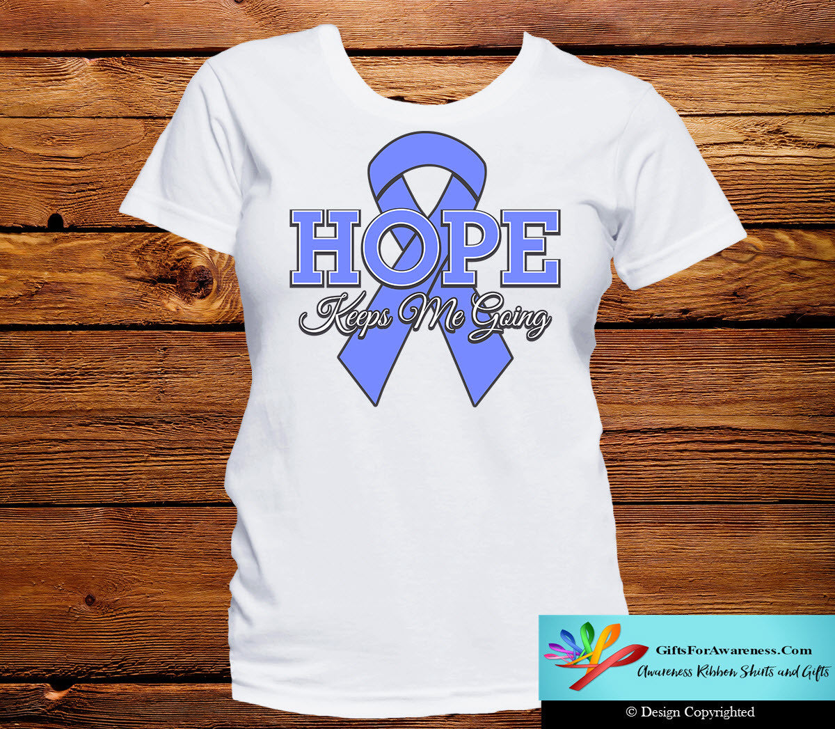 Esophageal Cancer Hope Keeps Me Going Shirts - GiftsForAwareness