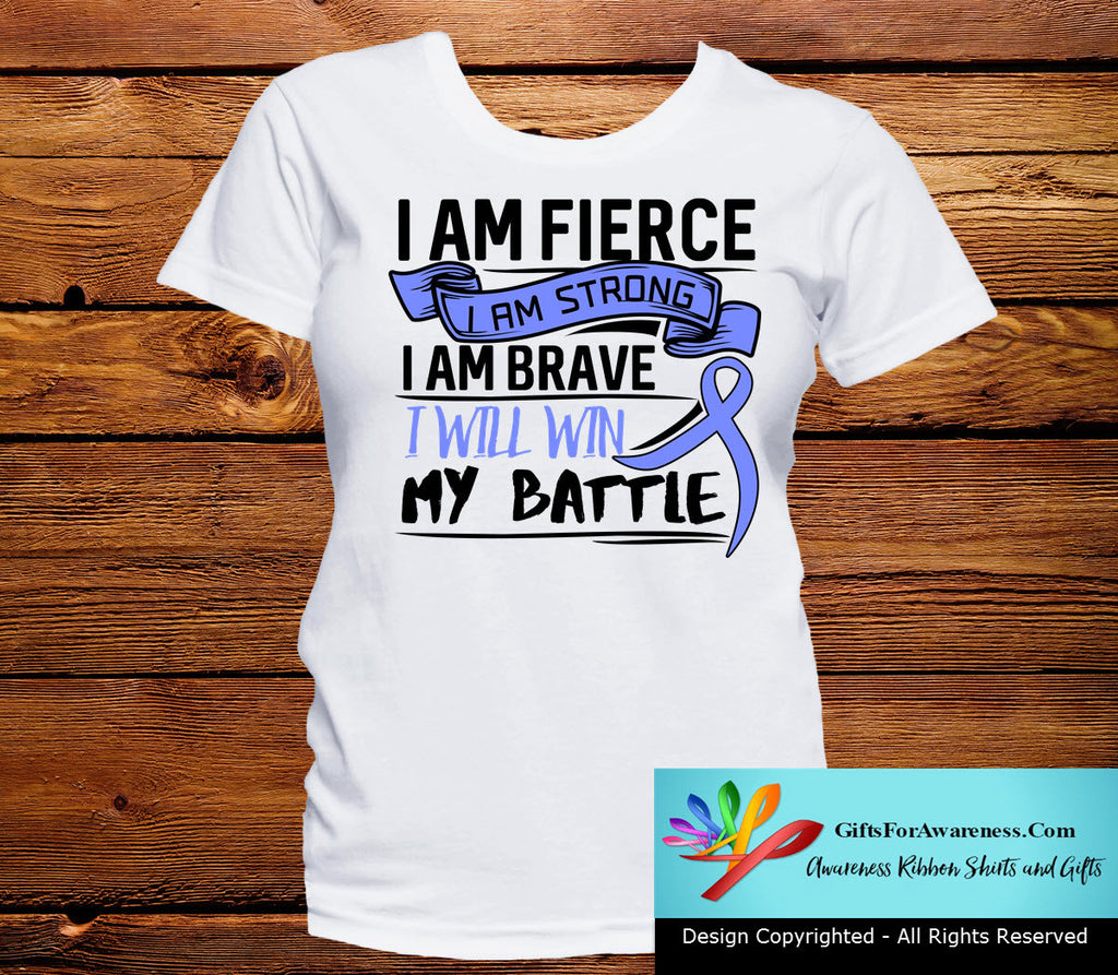 Esophageal Cancer I Am Fierce Strong and Brave Shirts