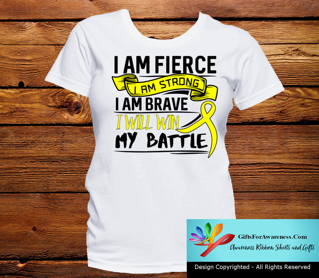 Ewings Sarcoma I Am Fierce Strong and Brave Shirts