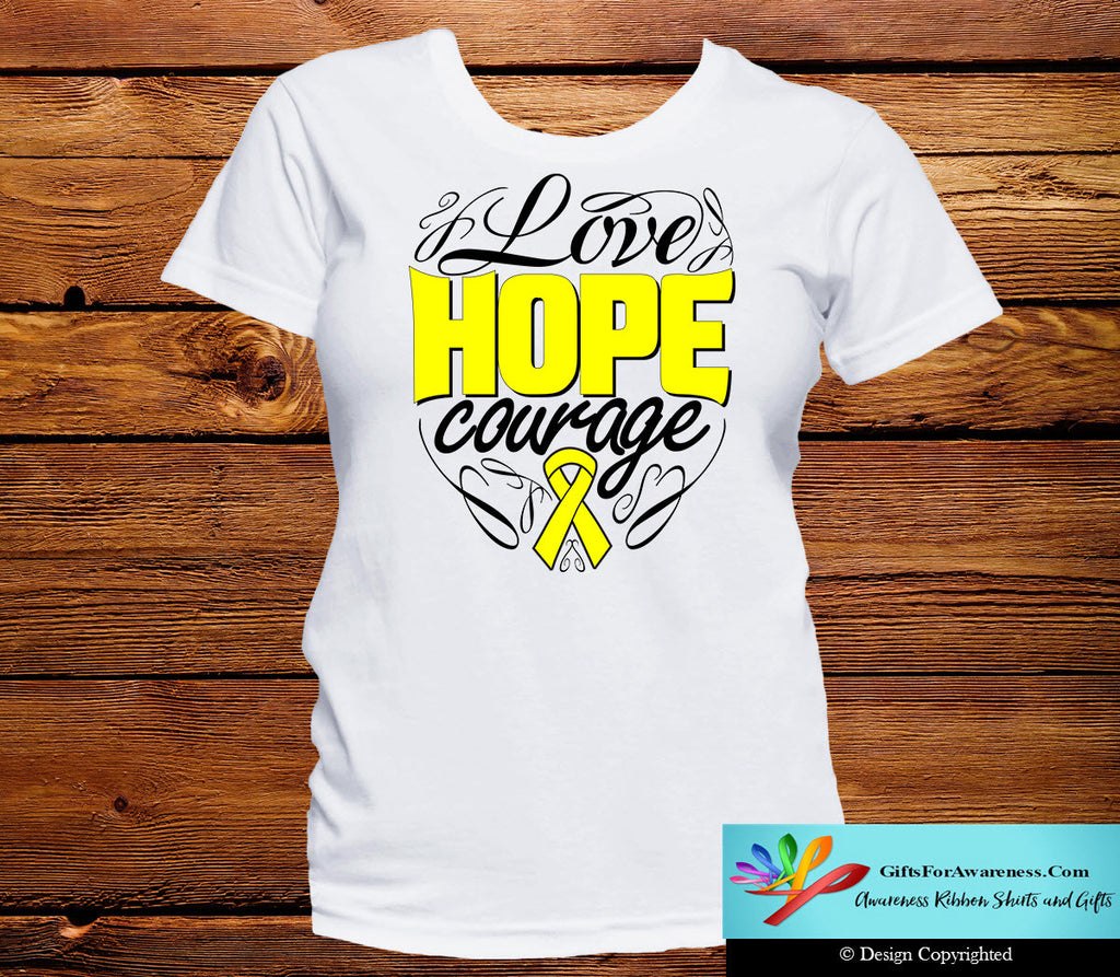 Ewings Sarcoma Love Hope Courage Shirts