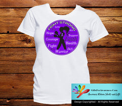 Fibromyalgia Fight Strong Motto T-Shirts - GiftsForAwareness