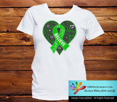 Gastroparesis Believe Heart Ribbon Shirts - GiftsForAwareness