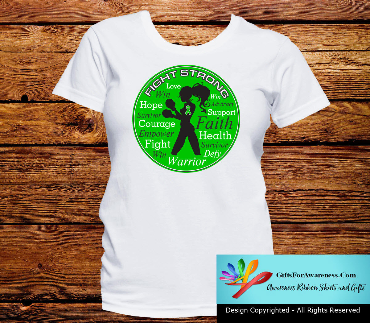 Gastroparesis Fight Strong Motto T-Shirts - GiftsForAwareness