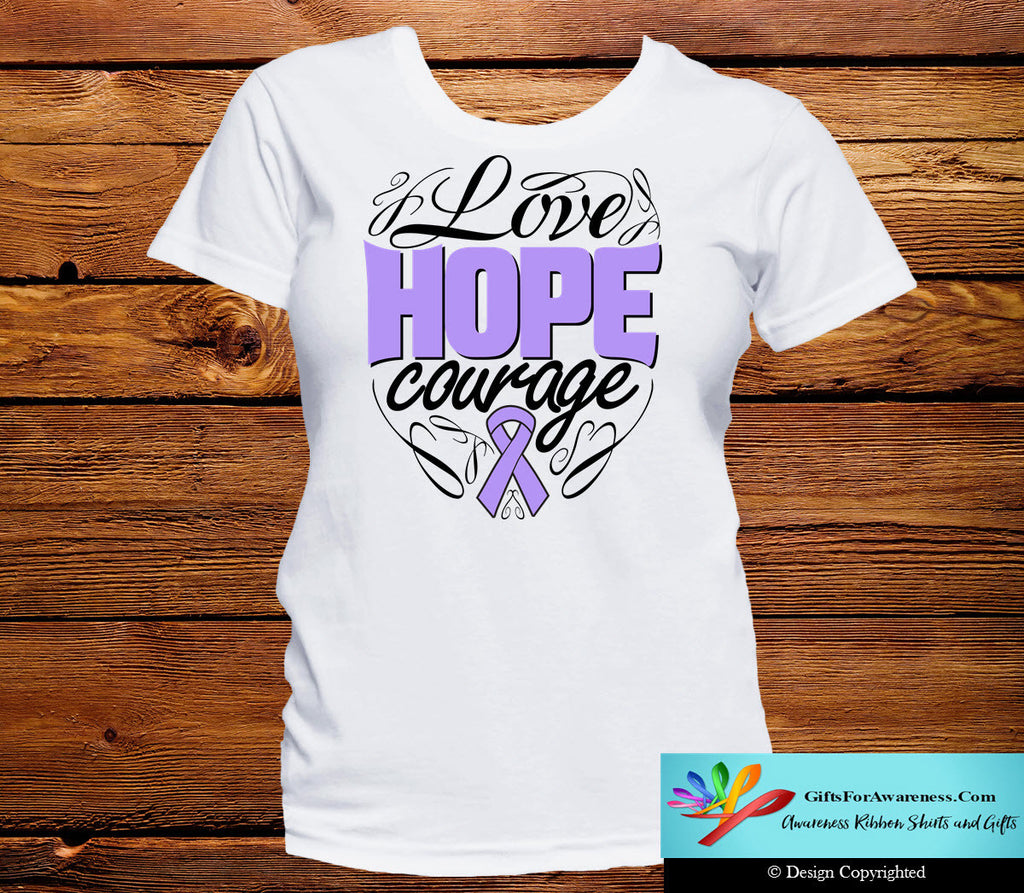 General Cancer Love Hope Courage Shirts