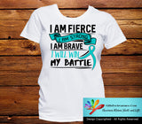 Gynecologic Cancer I Am Fierce Strong and Brave Shirts - GiftsForAwareness