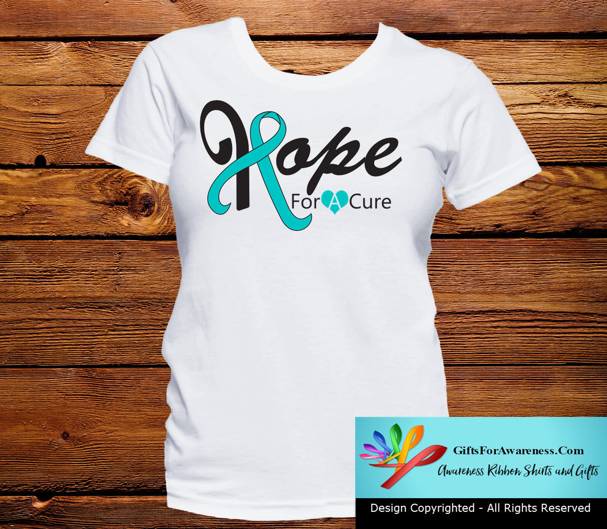 Gynecologic Cancer Hope For A Cure Shirts - GiftsForAwareness