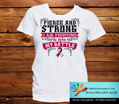 Head Neck Cancer Fierce and Strong I'm Fighting to Win My Battle - GiftsForAwareness