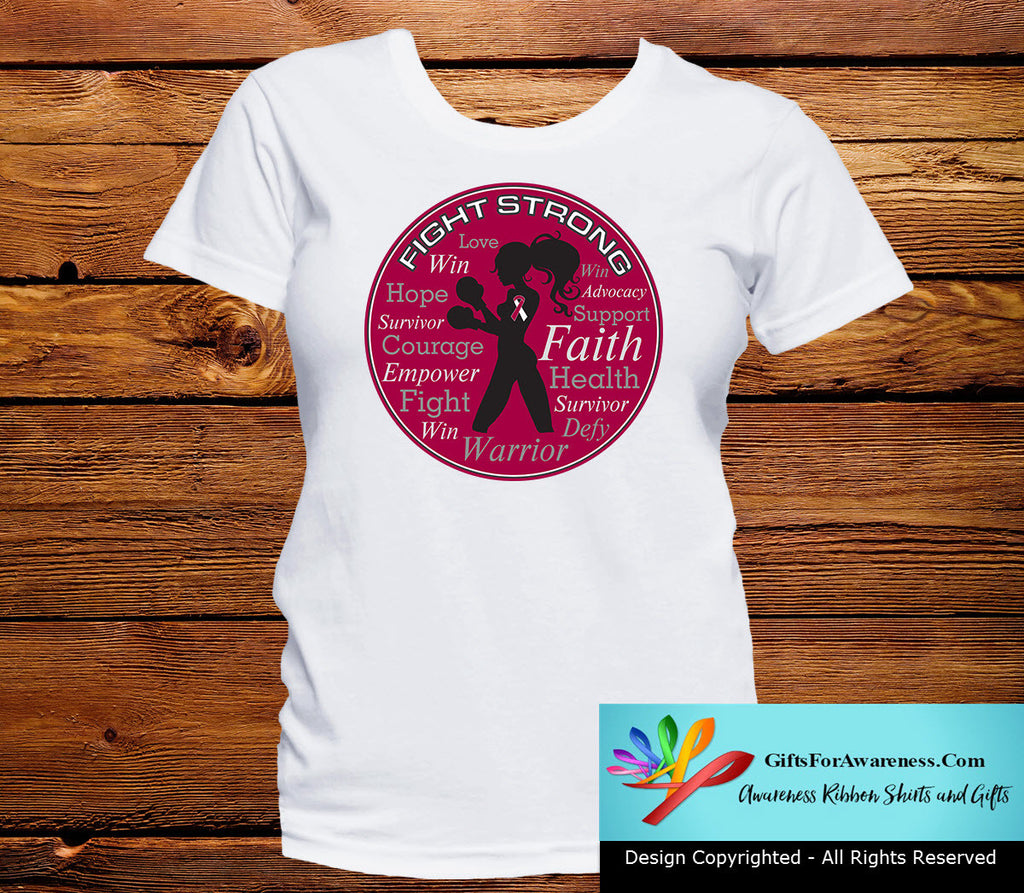Head Neck Cancer Fight Strong Motto T-Shirts