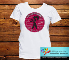 Head Neck Cancer Fight Strong Motto T-Shirts - GiftsForAwareness
